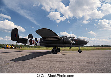 B-25 bomber on the airshow
