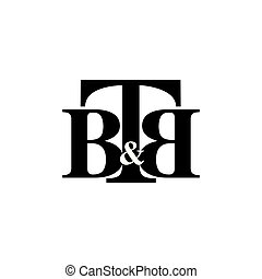 B B T Initial Letter Logo Vector