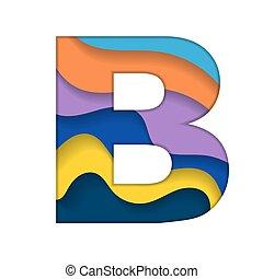 b, barwny, litera