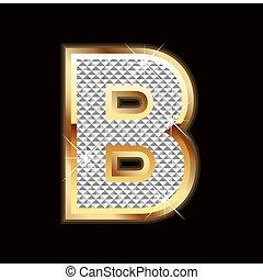 b bling letter