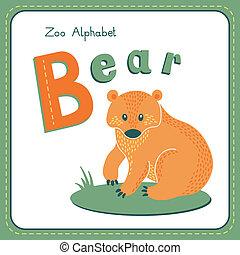 b, -, brev, björn