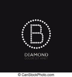 b, brev, diamanter