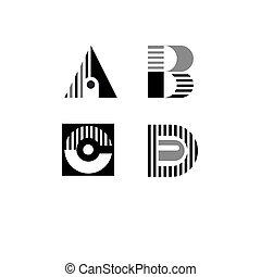 b, c, lettres, d, a