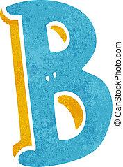 b, caricatura, carta
