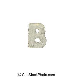 B, carta, cemento, textura
