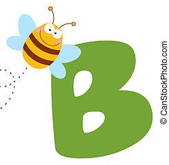b, cartas, abeja