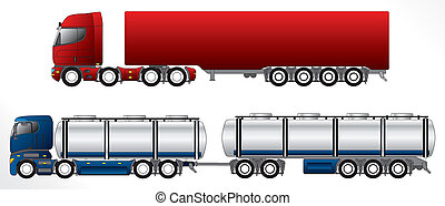 B double road train set - B double road trains with 4 axles...