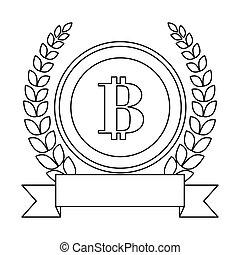 b, emblème, icônes, image, apparenté, lettre, banque