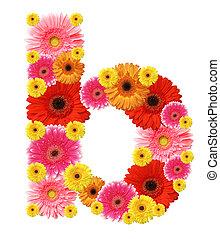 alphabet - b, flower alphabet