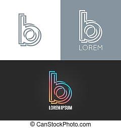 b, fondo, alfabeto, progetto serie, lettera, logotipo, icona