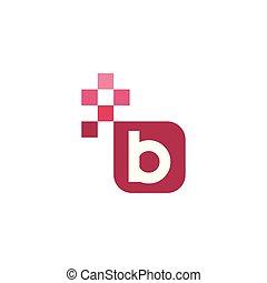 B Font Vector Template Design