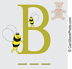 B for bee vector