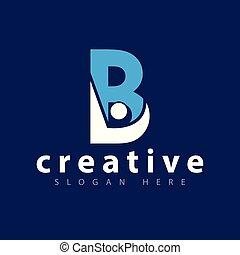 b, gabarit, gens, vecteur, lettre, logo, icône