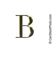 b, gold.