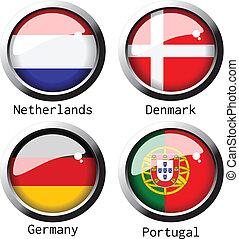 b, grupo, -, vector, banderas, 2012, uefa, euro