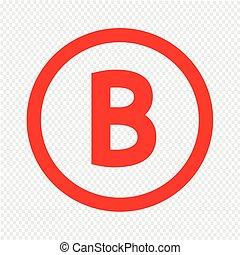b, ilustração, desenho, letra, básico, fonte, ícone