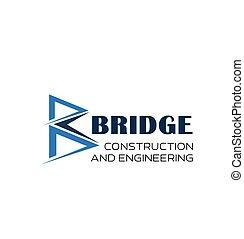 b, indústria, engenharia, vetorial, letra, ícone