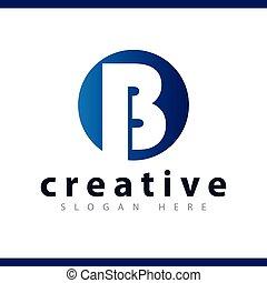 b initial letter logo vector template