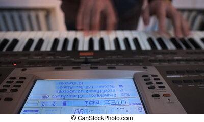 b, jouer, claviers