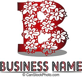 b, kwiat, litera