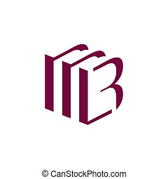 b, letra, sinal