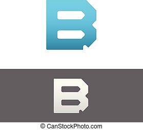B Letter Alphabet Abstract vector text logo