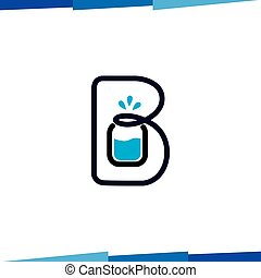 B Letter Drink logo vector template