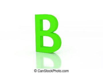 b letter green energy efficiency