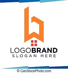 B Letter home logo vector template