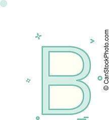 b letter icon vector design
