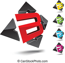 "B letter. - Illustration of ""B"" 3d design element."