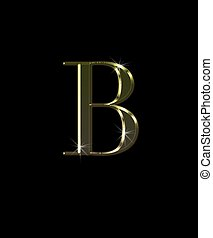 B, letter in gold.