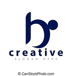 B letter people logo icon vector