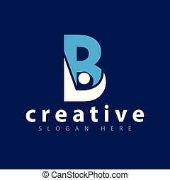 B letter with people logo icon vector template