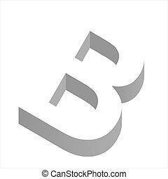 b, litera, 3d