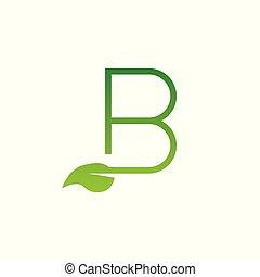 b, logo, blatt, brief, entwerfen elemente