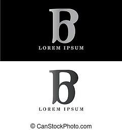 B logo initial letter design template vector
