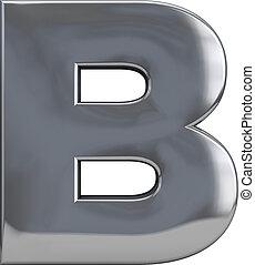 b, métal, lettre