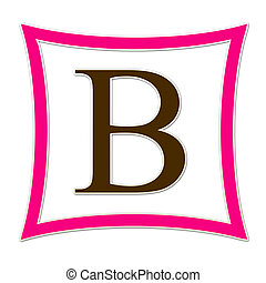 B Monogram Pink & Brown