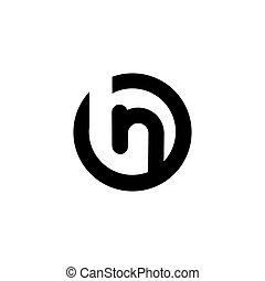 b n Letter logo