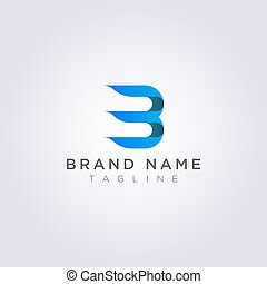 b, negócio, marca, número, seu, 3, desenho, combinado, letra, logotipo, ou
