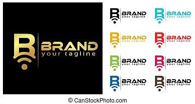 B online logo template, stock logo template.