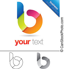 b, projektować, litera, element