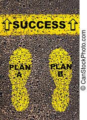 b, reussite, image, message., plan, conceptuel
