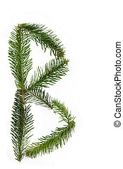 B - symbol from christmas alphabet