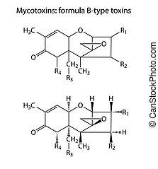 (b-type), formulák, általános, kémiai, mycotoxins,...