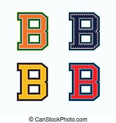 b, università, lettera