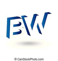 b, w, ruimte, aanvankelijk, negatief, vector, mal, brief, ...