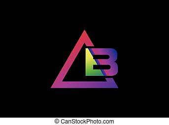 b, wibrujący, alfabet, graficzny, trójkąt, kolor