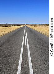B1 road in Namibia heading toward Sesriem and Sossusvlei